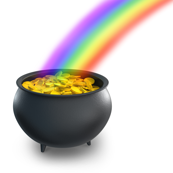 pot of gold at end of rainbow